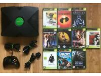 XBOX ORIGINAL CONSOLE AND GAMES.