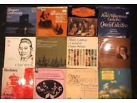 12 x vintage vinyl albums of classical music