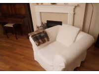 John Lewis Luxury Padstow Sofas in White (Pair) - Excellent Condition - Like New!