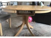 Oak extendable dining table only