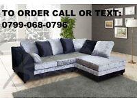 BLACK OR BLACK AND SILVER crushed VELVET sofa