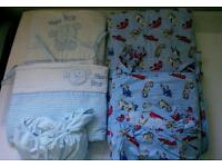 Two sets of cot bedding 70x140