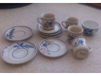 Ceramic mugs / saucers / bowl (Viana do Castelo, Portugal pottery)