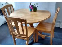 Matching table and four chairs