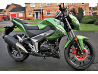 Kymco CK1 125cc Motorbike pristine condition as new.