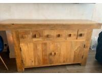 Solid Mantis oak sideboard