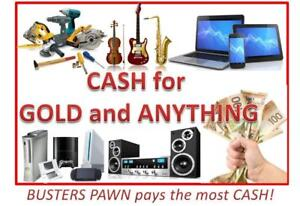 CASH for GOLD and ANYTHING of Value!! Tools, Electronics, Musical, Games. Get the MOST CASH. Bring the Family Down!