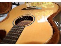 Hand-made Faith HiGloss Saturn Cutaway/Electro Acoustic Guitar + Faith Hardcase