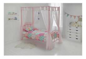 4 poster heart/princess single bed