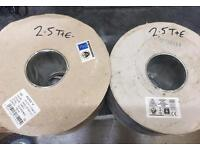 2.5mm twin and earth cable . 2x100metre reels
