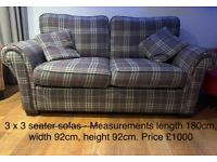 3 Large Settees for Sale