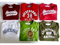 GENUINE ABERCROMBIE & FITCH MENS T-SHIRT MUSCLE FIT SIZE MEDIUM £14 EACH OR ALL 6 FOR £70