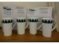 Aynsley Mozart latte mugs x4
