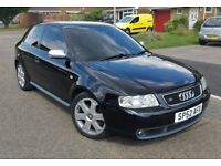 AUDI S3 QUATTRO (52) 225BHP *BAM* 111k*FSH* IMMACULATE* DRIVES SUPERB* CREAM RECARO LEATHER* XENONS*