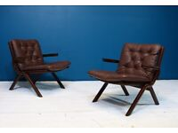 UNO Folding Chairs by Ekornes of Norway Mid Century Modern Retro Vintage 60s