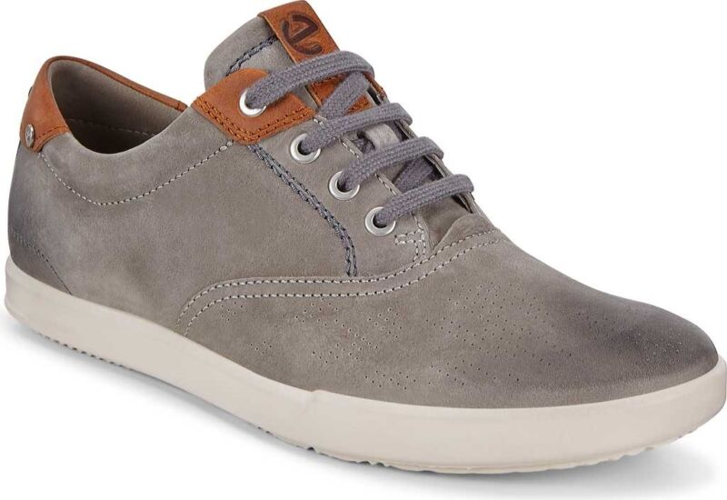 Details about ECCO Collin 2.0 CVO Sneaker (Men's Shoes) in Warm GreyCognac Full Grain Leather