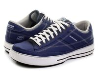 NEW IN BOX: Size 12 Skechers Arcade Chat men's navy blue trainers with Sketchers memory foam