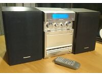 Panasonic Hi-Fi Stereo System with CD, Radio (FM), Tape, Aux and 2 speakers