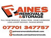 PAINES REMOVALS & STORAGE (EXCELLENT REVIEWS)