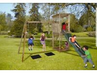 Kids outdoor wooden playcentre