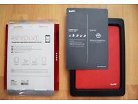 Rotating Smart Folio Case/Cover for iPad Air 2 - Red [FREE IPad Air 2 Bag & Mousepad]
