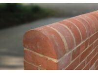 HALF ROUND RECLAMATION SOFT RED COPING BRICKS = £4.75 EACH.