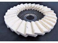 BOX 10x Flap Felt Discs 125x22 5 Polishing Angle Grinder Buffing Wheel Metal Alloy Brite Direct Ltd.
