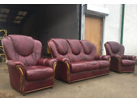 Pagnini Milano 3+1+1 sofas, suite, couch DELIVERY AVAILABLE