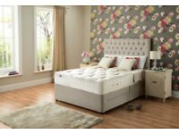 Delivery Today PREMIUM QUALITY Double Bed Headboard 12inch POCKET SPRUNG PREMIUM QUALITY Mattress