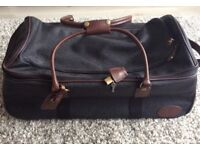 Mulberry Large Clipper Albany Scotchgrain Duffle Bag Holdall Leather Wheels Keys (GENUINE)