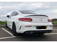 GENUINE MERCEDES C43 C CLASS AMG REAR SPOILER C205 GLOSS BLACK FITS COUPE 2016-2018