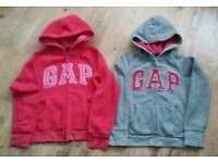 Gap girls zipped hooded jumpers age 12 yrs