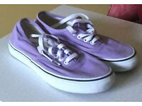 "Lilac Vans ""Off The Wall"": Men's UK size 4.5/Women's UK size 4"