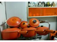 Vintage Le-creuset pans Volcanic orange