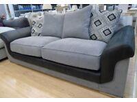 Grey and Black 3 Seat Sofa