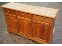 Very heavy solid pine dresser sideboard