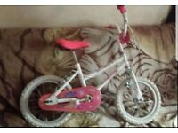 14 inch white bike bycicle