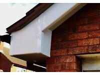 New facia board and gutters