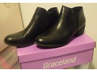 Black Ankle Boots - Size 5.5