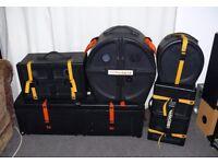 Hardcase hard cases various sizes inc hardware wheeled box drum case roland