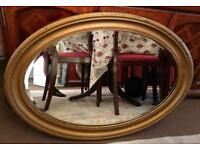 LARGE SHABBY CHIC STYLE HANGING WALL MIRROR - GOOD CONDITION - £40 ONO