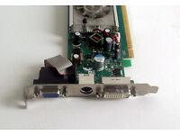 Nvidia Geforce 8300 (128MB, DVI, VGA, PCIe) Graphics Card, Monitor, HD Movies, Streaming, PC, Tower