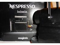 Black Nespresso Inissia Coffee Machine by Magimix - Unpacked, Unused.
