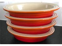 Set of 4 kitchen Lecreuset oval stoneware dishes