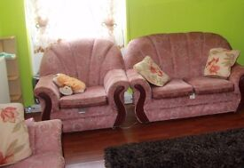 2 seater sofa + 2 single armchairs. Very Good Condition