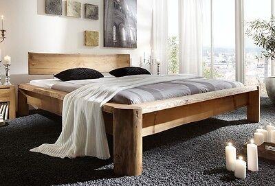 TUNDRA Massivholzbett 180x220 cm Bett Kiefer massiv gewachst