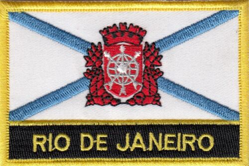 Rio de Janeiro City Brazil Flag Embroidered Patch - Sew or Iron on