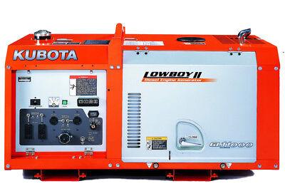 Brand New Kubota Gl11000 Lowboypro 11kw Diesel Generator