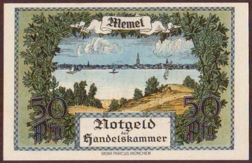MEMEL  1/2 Mark  1922    UNC