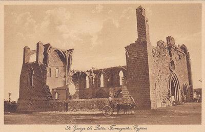 CYPRUS POSTCARD SAINT GEORGE THE LATIN CHURCH FAMAGUSTA GLASZNER 1920 S